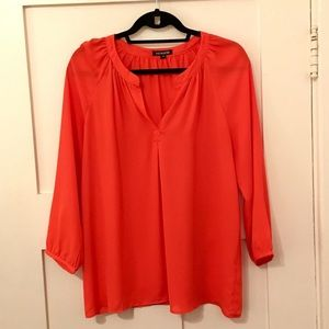 ALICE COLLECTION Red 3/4 Length Sleeve Top